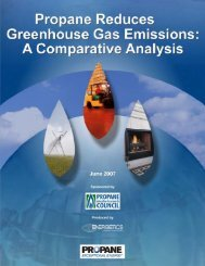 Propane Reduces Greenhouse Gas Emissions: A Comparative ...