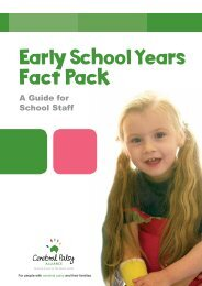 Early School Years Fact Pack - Cerebral Palsy Alliance