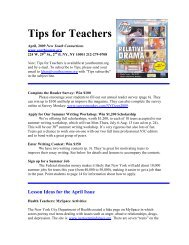 Tips for Teachers - Youth Communication
