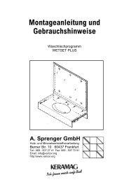Montageanleitung Waschtischmodell WETSET Plus - Varicor