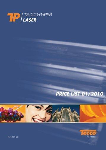 PRICE LIST 01/2010 - Tecco