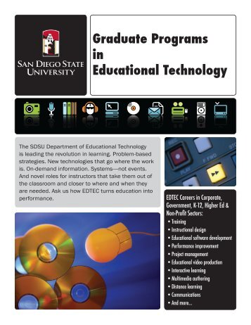 Graduate Programs in Educational Technology - SDSU - San Diego ...