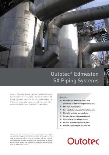 Outotec® Edmeston SX Piping Systems