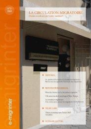 e-migrinter 2008 numéro 01 - Maison des Sciences de l'Homme et ...