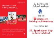 Die Nummer 1 auch in der Sportförderung. - Sparkasse Freising