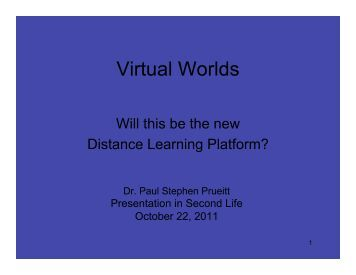 Virtual Worlds, the next Learning Platform - Second School