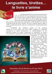 Téléchargez le dépliant de l'exposition - Scriptorial d'Avranches