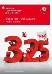 Großes Fest – große Zinsen! Feiern Sie mit! - Sparkasse Karlsruhe