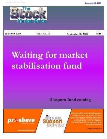 Waiting for market stabilisation fund - Proshare
