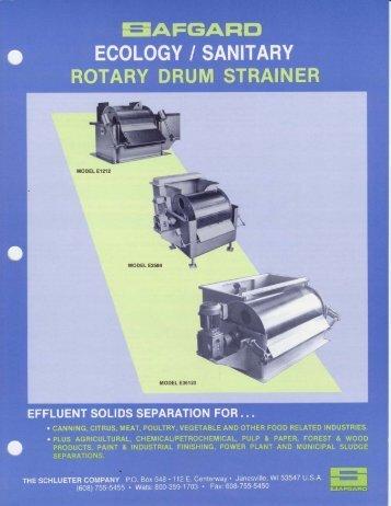 Rotary drum strainer