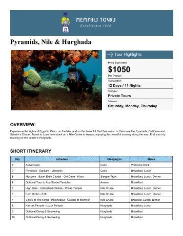 Pyramids, Nile & Hurghada - Memphis Tours Egypt