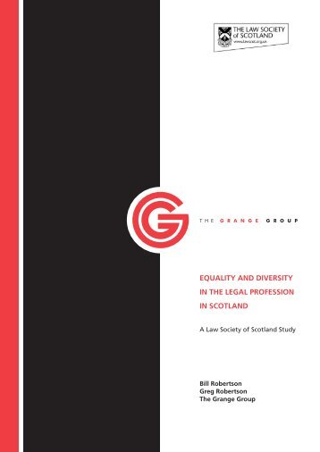 equality and diversity in the legal profession in scotland