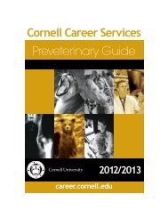 Preveterinary Guide 2012/2013 - Cornell Career Services - Cornell ...