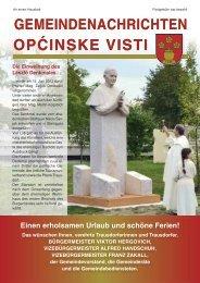 Gemeindenachrichten Sommer 2013 - in Trausdorf an der Wulka
