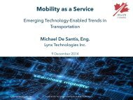 ITSC Webinar 9 Dec 2014 - Mobility as a Service
