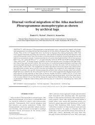 Diurnal vertical migration - National Marine Fisheries Service Alaska ...