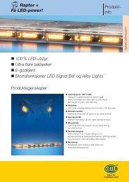 FÃ¥ LED-power! 100 % LED-utstyr Ultra flate takbjelker E ... - Hellanor