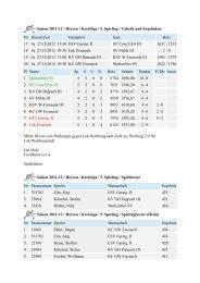 Saison 2011-12 / Herren / Kreisliga / 5. Spieltag / Tabelle und ...