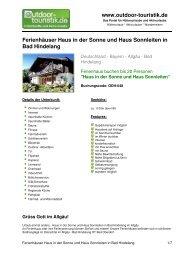 Ferienhäuser Haus in der Sonne und Haus  ... - Outdoor-Touristik