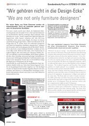 We are not only furniture designers - MW-AUDIO