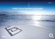Public Sector handset price guide