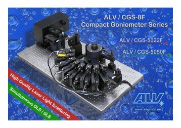 ALV / CGS-5022F and ALV / CGS-5050F COMPACT GONIOMETER ...
