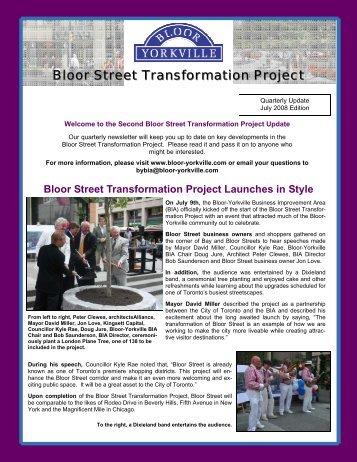 July 2008 Newsletter v.4 - Bloor-Yorkville