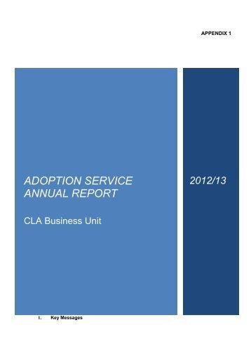 ADOPTION SERVICE ANNUAL REPORT