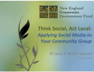 grassrootsfund - Rhode Island Land and Water Partnership