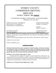 STOREY COUNTY COMMISSION MEETING MINUTES