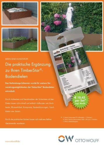 Die praktische Ergänzung zu Ihren TimberStar®- Bodendielen