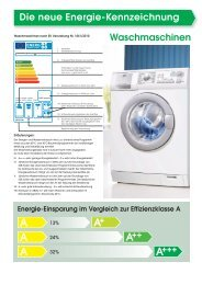 Die neue Energie-Kennzeichnung Waschmaschinen - OTTO Versand