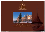 A Tradition of Excellence in Swiss Hospitality Management Education