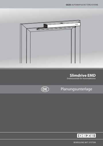 Slimdrive EMD Planungsunterlage