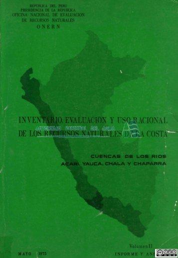 inventario, evaluación y uso racional de los recursos naturales de la ...