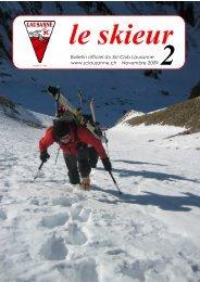 Skieur 2 - Ski-club Lausanne