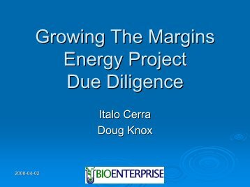 Biomass Energy Project Due Diligence