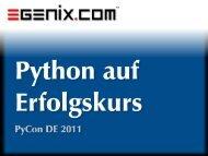 Python auf Erfolgskurs - eGenix.com