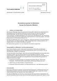 Standardisierungsarbeit für Bibliotheken Konzept Der Deutschen ...