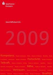 Jahresbilanz zum 31. Dezember 2009 - Sparkasse Holstein