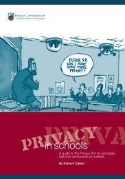 Privacy in Schools - Office of the Privacy Commissioner