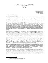 La Declaración de Cartagena en el Mercosur, Bolivia y Chile - Acnur
