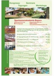 Kongresse Sparkassenakademie Bayern Tagungen Seminare ...