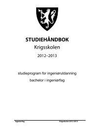 STUDIEHÅNDBOK Krigsskolen - Høgskolene i Forsvaret