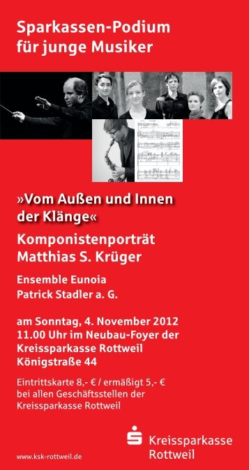 Sparkassen-Podium für junge Musiker - Kreissparkasse Rottweil