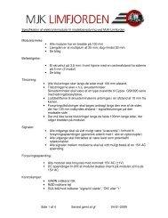 Side 1 af 4 Senest gemt af gf 04-01-2009 Specifikation af ...