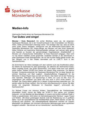 Medien-Info - Sparkasse Münsterland Ost