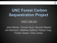 Final Presentation - UNC Institute for the Environment