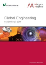 Mergers Alliance. Global Engineering Sector ... - NORGESTION