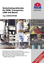 Sicherheitsprüfstraße für PKW, Transporter, LKW und Busse - Produkt